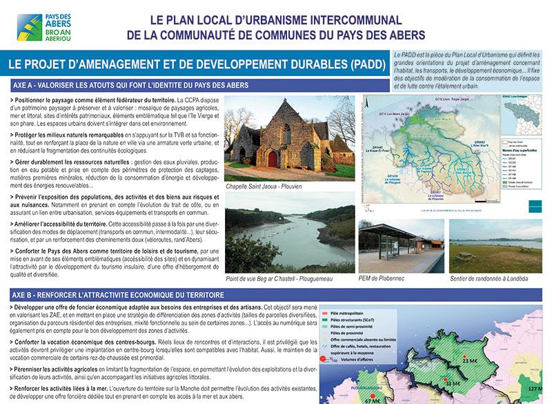 Panneau d'exposition relatif au PADD, Communauté de communes du Pays-des-Abers.