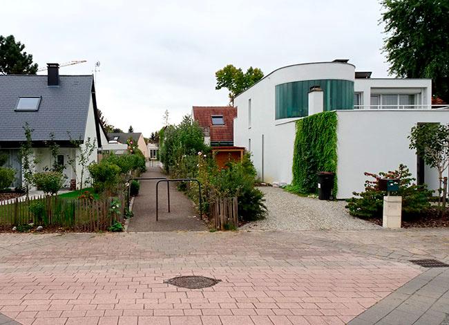 Vue du lotissement Le Corbusier à Dingsheim.