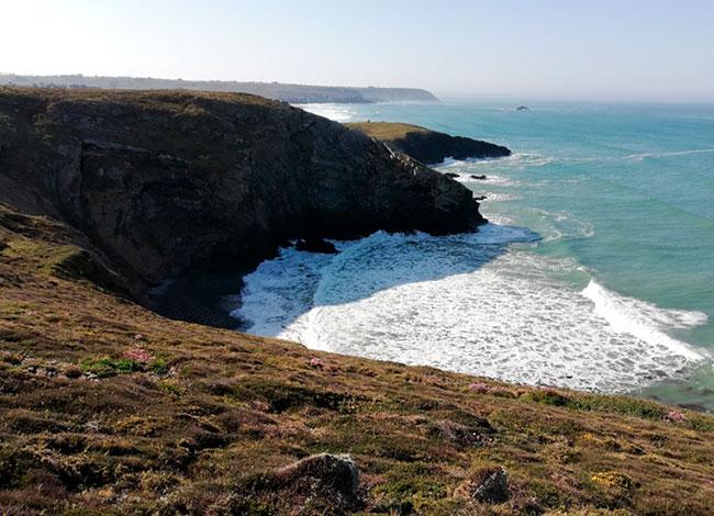 Vue de la presqu'île de Crozon, Camaret-sur-Mer.