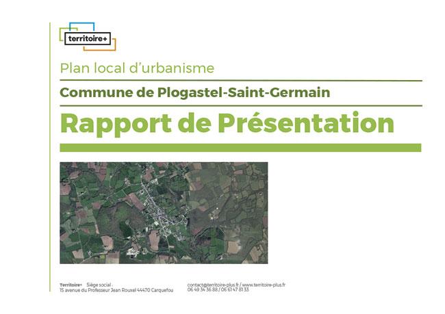 Un rapport de présentation d'un plan local d'urbanisme.